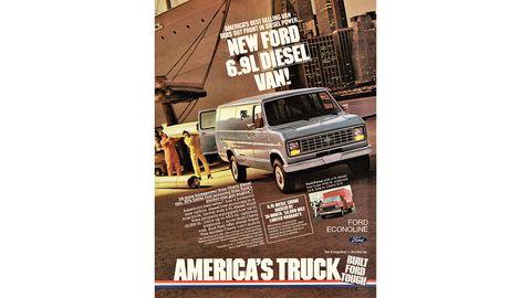 1983 Ford diesel van.