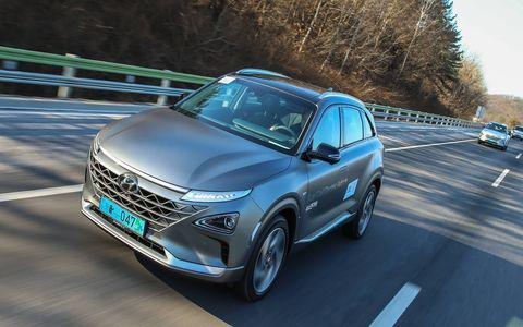 We drove, and it drove itself for a while, a Hyundai Nexo fuel cell vehicle from Seoul to the Winter Olympics. It did just fine. Here it is on the highway to PyeongChang.