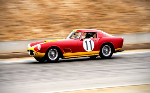 Post-war classes continued the vintage racing action at Mazda Raceway Laguna Seca.