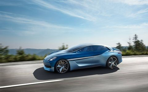 Borgward brought back the Isabella name via this Frankfurt motor show concept, featuring an electric powertrain.