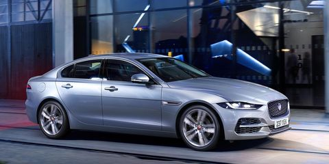 Jaguar brought a refreshed XE sedan to the Geneva motor show.