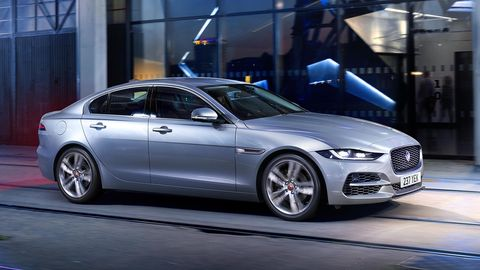 Jaguar brought a refreshed XE sedan to the Geneva motor show.