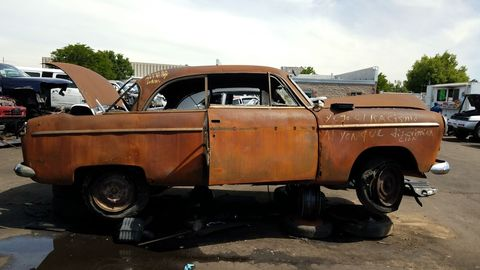 The wrecking yard labeled it as a '49, but the Aero didn't even exist until '52.