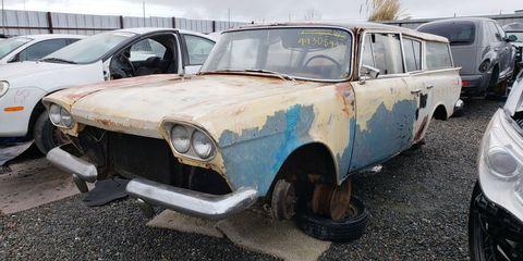 California wrecking yards often get surprises like this Rambler.