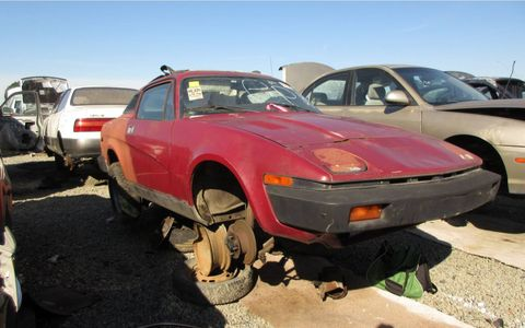 The TR7 sold well in California, and this one held on until age 40.