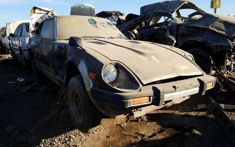 A genuine Japanese-market right-hand-drive S130 Fairlady Z, now at the end of its life in Colorado.