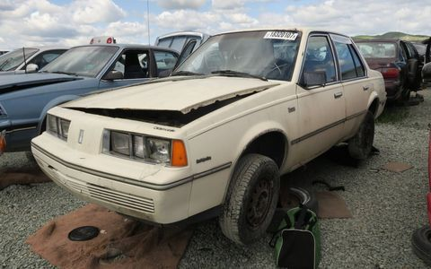 The Firenza was the Olds-badged version of the early Chevrolet Cavalier, and an extremely rare Junkyard Treasure.