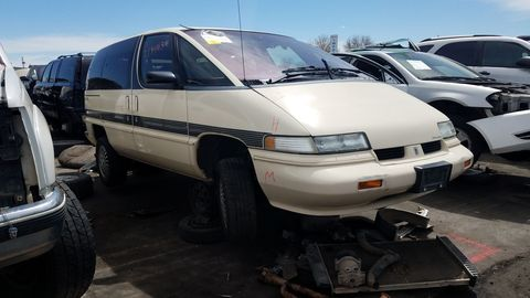 "This is the nicest GM ""Dustbuster"" minivan I have ever found in a wrecking yard. In fact, you'd be hard-pressed to find one this clean on the street."