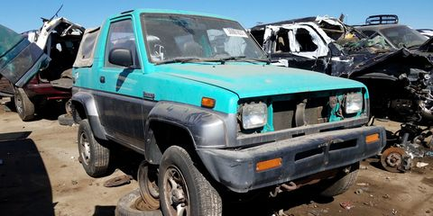 One of two Daihatsu models available in the United States, the Rocky has become incredibly rare today.