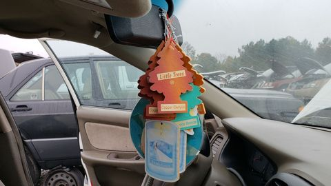 An important characteristic of the Charlotte Stack air-freshener treatment is a multitude of unrelated scents.
