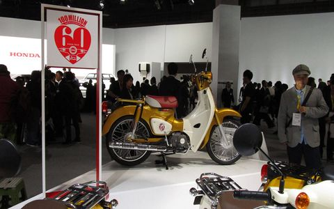 Honda celebrated 100 million Super Cubs produced during the last 60 years.