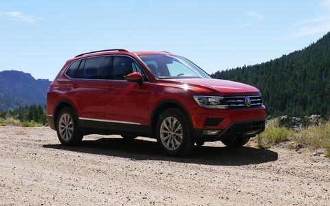 While the all-wheel-drive 2018 Tiguan isn't set up for maniacal off-roading, it will deal with ordinary snow, mud, and dirt just fine.