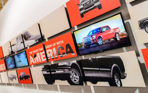 """The LeMay Museum dedicated an exhibit to America's truck called """"F-Series: The Truck that Grew Up with America."""""""