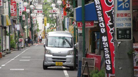A Daihatsu Hijet in the Sunamachi Ginza.