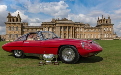 Salon Prive celebrated its 12th year last weekend on the grounds of the fabulous Blenheim Palace in Oxfordshire. Here's the Best of Show-winning 1960 Alfa Romeo 6C 3000 CM Pininfarina Superflow IV.
