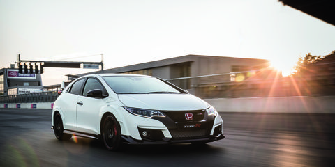The 2015 Honda Civic Type R gets 306 hp courtesy of a turbocharged 2.0-liter inline-four, all put to the pavement via the front wheels via a six-speed manual transmission. This car won't be coming to the United States, but Honda says a Type R based on the upcoming 2016 Civic will make it to America.