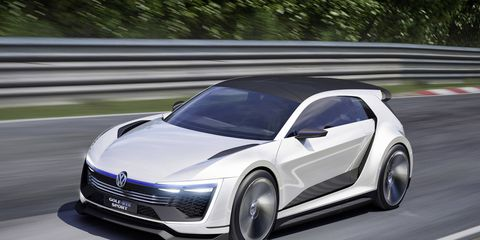 The Golf GTE Sport concept majors in carbon and clever hybrid tech.