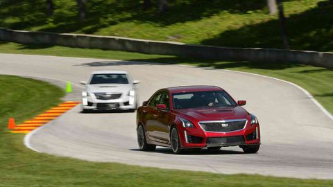 The CTS-V can go directly from the showroom to the track, in this case, Road America.