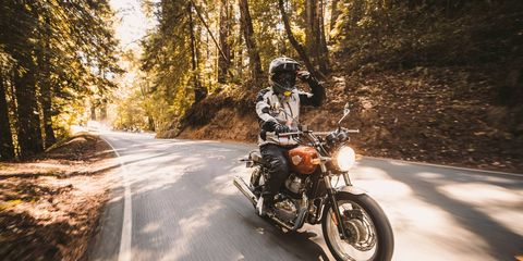 Royal Enfield is launching two 650-cc two-cylinders on the global market: the Continetal GT and the Interceptor. We liked the Continental, it's set up like a cafe racer and rides like one, too. Nothing like the wobbly, single-cylinder Classic 500. These two are for real and fun. Best part: prices start at $5799. On sale early 2019.