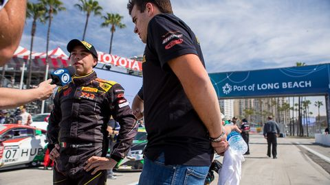 Action from the Pirelli World Challenge at the Toyota Grand Prix of Long Beach weekend.