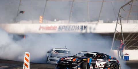 Chris Forsberg won his third Formula Drift championship when Fredrick Aasbo was knocked out of contention at The House of Drift in Irwindale, Calif.