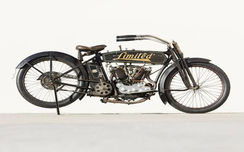 The Bonham's sale, also in Las Vegas, also had many cool bikes, 345 lots in all. This 1914 Feilbach 10 HP Limited went for $195,000