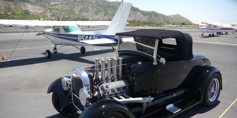 A nice variety of planes and cars make up this quaint local show, held the first Sunday of every month at the airport in Santa Paula, Calif. an hour and a half northwest of Los Angeles.