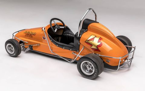 "Did you have one of these as a kid? Lucky you! Opening Dec. 16, the Petersen Automotive Museum in Los Angeles will feature an exhibit of kids race cars from the last 100 years, from a 1908 Brownie Car to a 2017 NHRA Junior Dragster. The exhibition is called, ""Sidewalk Speedsters: The Grown-up World of Children's Cars."" If only we could fit inside them! This is a 1955 Kurtis Kraft Quarter Midget."