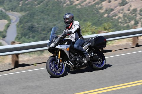 Yamaha has refined and renamed its FJ-09 Sport Touring bike as the Tracer 900 GT. It gets a longer swing arm, adjustable suspension and a more comfortable seat. With a 4.8-gallon tank you should be able to go over 200 miles between fill-ups. Now get out there and tour!