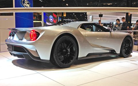 The Ford GT concept makes an appearance at the Chicago Auto Show.