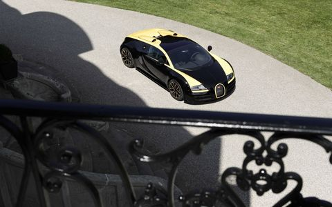 The black-and-yellow color scheme went beyond the vehicles themselves at Bugatti. Even the beams over the old oak gates of the Bugatti headquarters in Molsheim, Alsace were painted in these colors.