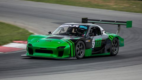 Logan Carswell debuted his stunning 4 rotor wide-body RX7 this year at Gridlife TrackBattle 1. In the car's first-ever lap on-track, Logan piloted the RX7 to a second place in Unlimited RWD with a 1:34.036.