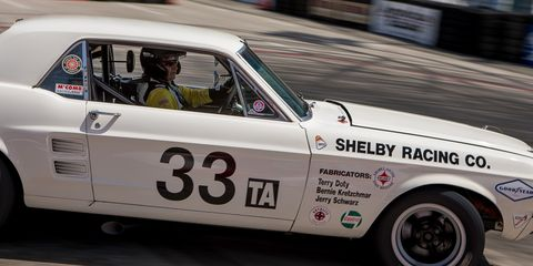 Driver Gary Underwood in his 1967 Ford Shelby Mustang.