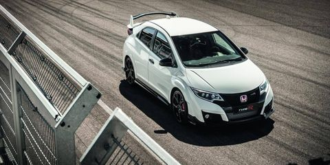 We drove the Euro-market Honda Civic Type R in Slovakia; we should be getting a version with the next Civic.