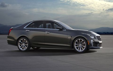 Cadillac unveiled the 640-hp, 6.2-liter LT4-powered CTS-V before its official debut at the Detroit auto show in January. The new halo car will get 630 lb-ft of twist to go along with that power, good for a lightning-quick 0-60 mph time of 3.7 seconds.