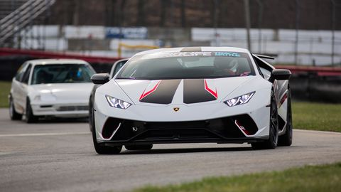 Jeremy Boysen made the trek out from Iowa with his new Lamborghini Huracan Performante. In the first session, Boysen was able to lay down a 1:37.878 in the Stock Supercar, solidifying his first place Track Modified AWD.