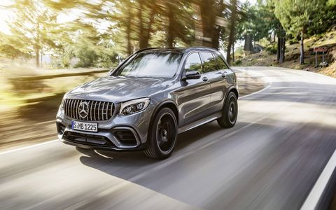 The 2018 GLC63 will churn out 469 hp and 479 lb-ft of torque.