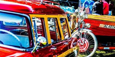 Keels and Wheels combines the best of collector cars and classic boats at the water's edge in Seabrook, Texas.