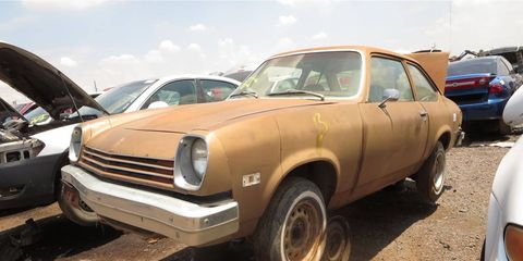 The Vega hasn't been a common street sighting since the late 1980s.