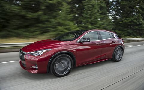 The Infiniti QX30 is the first roll-out from a development agreement between Nissan-Renault and Mercedes-Benz.