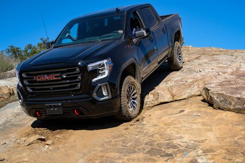 GMC wants everyone to know it offers its mighty Sierra pickup truck in four wheel-drive, or AT4 to use the company parlance.