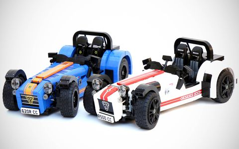 UK Lego builder Carl Greatrix created this  Lego Caterham Super Seven.
