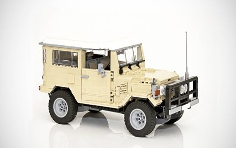 The Land Cruiser is made up of approximately 1,700 pieces.