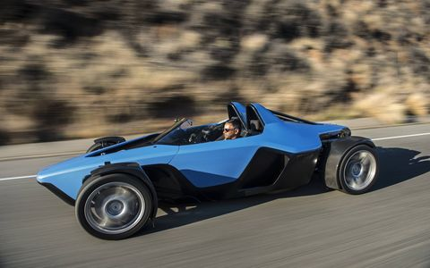The Drakan Spyder is the car you would design if you were designing a sports car.