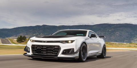 The 2018 Camaro ZL1 1LE is the fastest production Camaro GM has ever made, with upgraded aero package, suspension and a 60-pound weight savings combined with the mighty and powerful 650-hp supercharged LT4 V8. It lapped the Nurburgring in a sizzling 7:16. You will be track-smitten... until - and if - the Z/28 comes out.