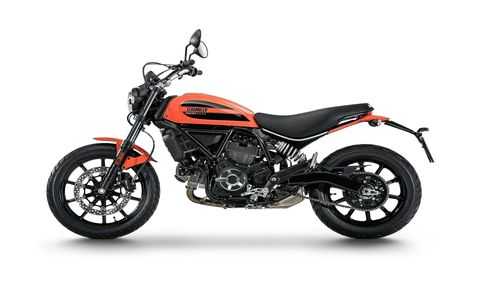 The Ducati Scrambler Sixty2 is another motorcycle aimed at attracting young buyers into the Ducati fold. With a 400-cc L-Twin it offers half the displacement of last year's Scrambler, but at $7995 it's a thousand dollars less.
