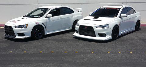 There were a lot of white Evos at MOD.