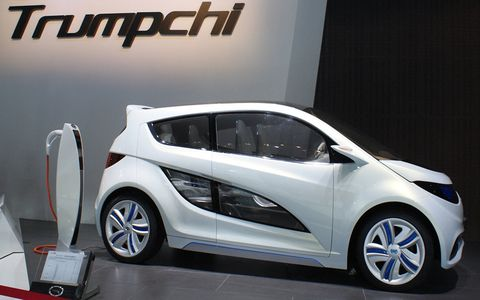 GAC exhibited the Trumpchi lineup at the Detroit auto show, in anticipation of a stateside market launch.