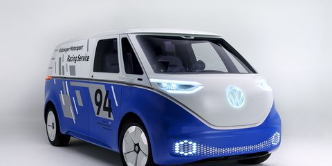 VW brought a revised version of the Buzz Cargo concept to the LA auto show, previewing a 2022 vehicle that will offer several battery options, depending on needs.