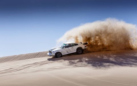 Kelly-Moss made racing Porsches for years. Then someone asked if they could make one that went off-road. The results speak for themselves: 430 whp, 400 wtq, 2600 pounds. Just add sand.